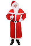 Santa Claus full length portrait showing thumbs up on Christmas Stock Image