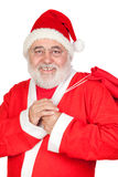 Santa Claus with a full sack Stock Photos