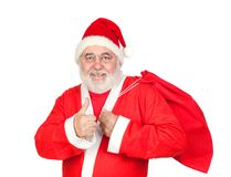 Santa Claus with a full sack saying OK Royalty Free Stock Photo
