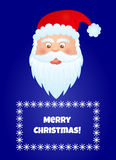 Santa claus2. Funny santa claus on blue background with text place Royalty Free Stock Photo