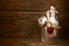 Santa Claus, funny Christmas card Stock Photos