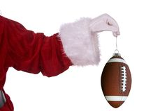 Santa claus futbol ornament Obrazy Royalty Free