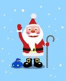 Santa Claus gaie avec des cadeaux Image libre de droits