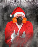 Santa Claus in Gas Mask Stock Photography