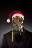 Santa claus with gas mask Royalty Free Stock Photos