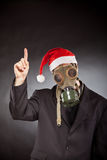 Santa claus with gas mask Stock Image