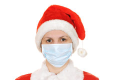 Santa claus in a gauze bandage Stock Photography