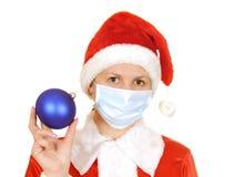 Santa claus in a gauze bandage. Isolated on white background Stock Photography