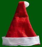 Santa Claus-geïsoleerde hoed Royalty-vrije Stock Foto's