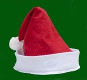 Santa Claus-geïsoleerde hoed Royalty-vrije Stock Afbeelding