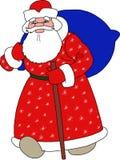 Santa Claus, Gelukkig Nieuwjaar Stock Afbeeldingen