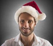 Santa Claus-Geschäftsmann Stockfotografie