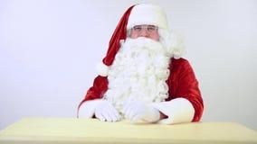 Santa Claus gestures stock video footage
