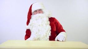 Santa Claus gestures stock video