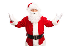 Santa Claus gesturing with his hands Stock Photos