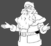 Santa Claus Gesturing Welcome Stockfotografie