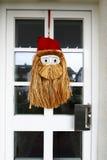 Santa Claus-gezicht met hennepbaard Royalty-vrije Stock Foto
