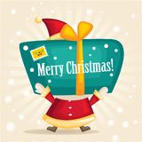 Santa Claus. With a gift. Illustration Stock Photography
