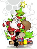 Santa claus gift Royalty Free Stock Image