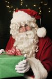 Santa Claus with with gift Stock Image