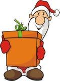 Santa claus and gift Stock Photos