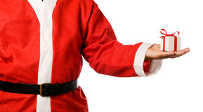 Santa Claus with gift Royalty Free Stock Image