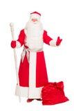 Santa Claus with gift bag Royalty Free Stock Image