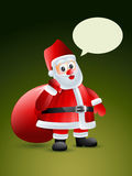 Santa claus with gift bag Stock Images