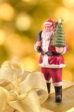 Santa Claus and Gift Box Royalty Free Stock Photos