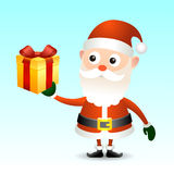 Santa Claus with gift box Stock Image