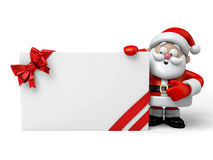 The Santa Claus. And a gift box Stock Images