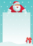 Santa Claus and gift box with christmas letter Royalty Free Stock Images