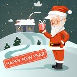 Santa Claus with gift Stock Photos