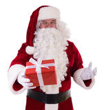 Santa Claus with gift box Stock Photography
