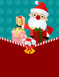 Santa Claus with gift box Royalty Free Stock Photos