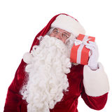 Santa Claus with gift box Stock Photos