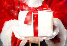 Santa Claus with Gift Box royalty free stock image