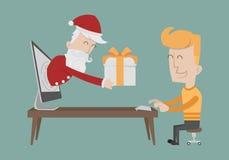 Santa Claus gift boxes Stock Image