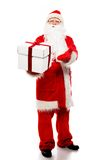 Santa Claus with gift boxes Stock Photo