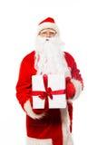 Santa Claus with gift boxes Stock Photos