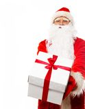 Santa Claus with gift boxes Stock Images