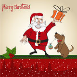 Santa Claus with gift Stock Photography