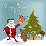 Santa Claus with gift Royalty Free Stock Photography
