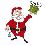 Santa Claus with gift Stock Image