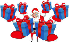 Santa Claus Gift Gifts Christmas Isolated Stock Image