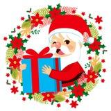 Santa Claus Gift Giving royalty-vrije illustratie