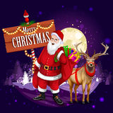 Santa Claus with gift for Merry Christmas holiday Royalty Free Stock Images
