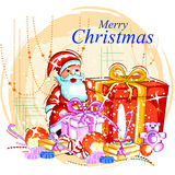 Santa Claus with gift for Merry Christmas holiday Stock Photos