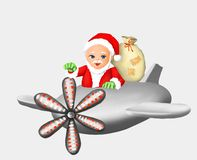 Santa claus santa claus gift and new year, christmas, greeting card, greeting, postcard, winter, winter season, snow, celebration, royalty free stock photos