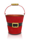 Santa Claus Gift Pail. A Santa Claus themed gift bucket over white background Stock Image